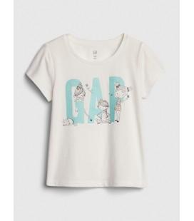 Gap Logo Kız Çocuk Kısa Kollu T-Shirt 539789