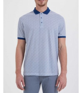 Hatemoğlu Desenli Polo Yaka Beyaz T-shirt 35361018C011