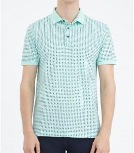 Hatemoğlu Desenli Polo Yaka Lacivert T-shirt 35361018C009