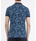 Hatemoğlu Desenli Polo Yaka Lacivert T-shirt 35363018C005