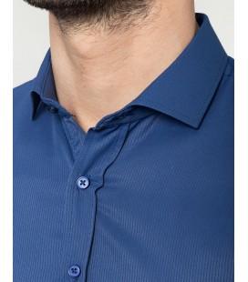Tudors Erkek Slim Fit Mavi Gömlek DR17124-664