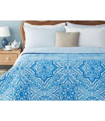 Madame Coco Cadance Çok Amaçlı Çift Kişilik Yatak Örtüsü - Mavi 1KYOCK0427106
