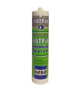 Hatfix Silikonize Mastik 500Gr Beyaz HF50