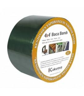 İzolasyon Oto, Ses, Çatı Yalıtım, Mahya, Baca Bandı 10cmx10m Yeşil