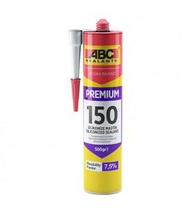 ABC Premium 150 Silikonize Mastik Beyaz 500gr.