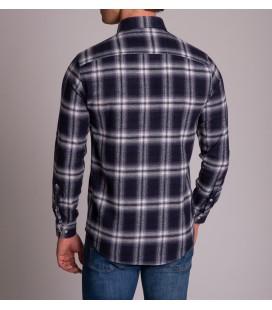 Dufy Erkek Lacivert Pamuklu Slim Fit Gömlek DU3194013003