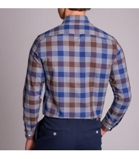 Dufy İndigo Kareli Erkek Slim Fit Gömlek DU2184013009