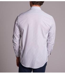 Dufy Erkek Gri Çizgili İnce Dokuma Regular Fit Gömlek DU1184015044