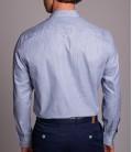 Dufy  Erkek Lacivert İpeksi Pamuk Regular Fit Gömlek DU3194016002