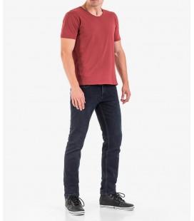 Xint Erkek V Yaka Parça Boyalı Pamuklu Basic Tişört