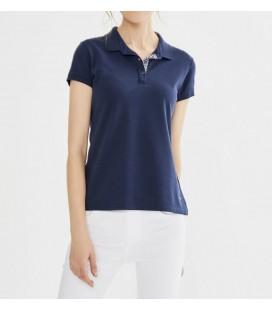 Xint Kadın Polo Yaka Pamuklu Basic Tişört 601475