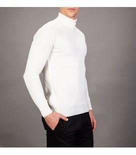 Factor Erkek Beyaz Balıkçı Yaka Kazak 7646