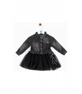 BG Baby Tükeniyor Kız Bebek Jean Elbise 19fw2bg2911