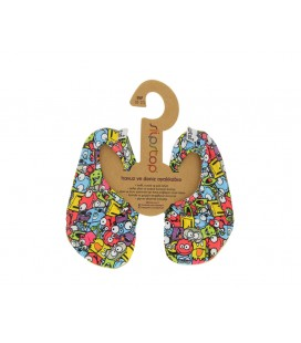 Slipstop Funny Monster Renkli Çocuk Havuz Ayakkabısı ss16120060