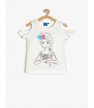 Koton Disney Lisanslı Baskılı T-Shirt Ekru 8YKG17825AK002
