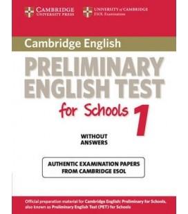 Cambridge Preliminary English Test for Schools 1 by Cambridge ESOL