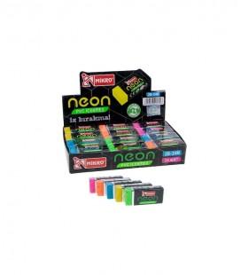 Micro Neon Silgi İz Bırakmaz Silgi - 2B-24N 24 Adet