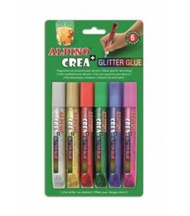 Alpıno Alpino Crea+ Glitter Glue Simli Yapıştırıcı 6 Renk de000015