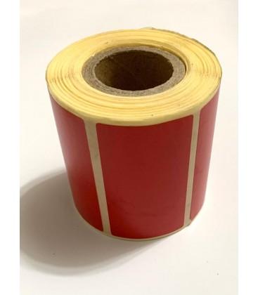Rulo Kırmızı Termal Etiket Yazıcı Rulosu 5x2cm 1000'lik
