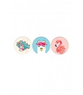 Keskin Color K-gift 3 Lü (buzdolabı Süsü) Cam Magnet Sevimli Hayvanlar
