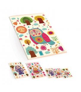 Keskin Color Plastik Kapak A5 40 Yaprak Çizgili Defter - Baykuş Desenli