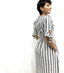 Style İstanbul Kadın Çizgili Elbise