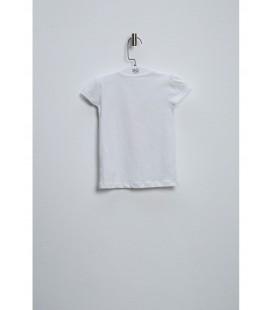 BG Store Baby Kız Bebek Beyaz Tişört 3838BBG2501