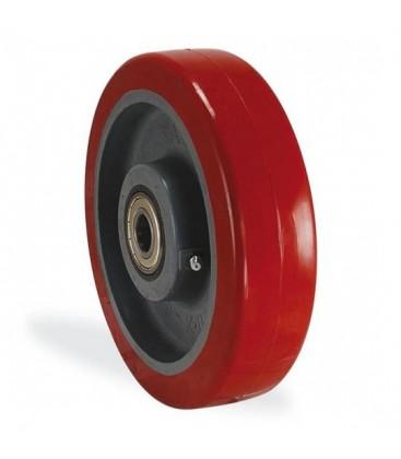 Rulmanlı Kırmızı Sanayi Tekerleği 30x80