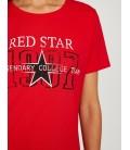 Koton Kadın Yazılı Baskılı T-Shirt Kırmızı 8YAL11007JK473