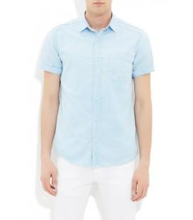 Mavi Erkek Kısa Kollu Gömlek
