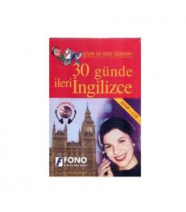 30 Günde İleri İngilizce Eğitim Seti 1 Kitap + 2 CD Fono Yayınları