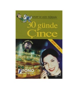 30 Günde Çince Kitap + 4 CD Fono Yayınları
