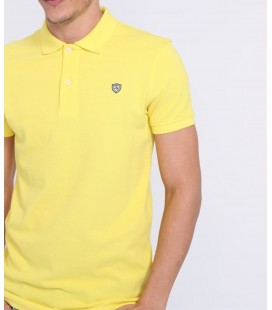 Lufian Erkek Sarı Polo Yaka T- shirt LF18SMKW013
