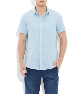 Mavi Kısa Kol Gömlek 020370-21036