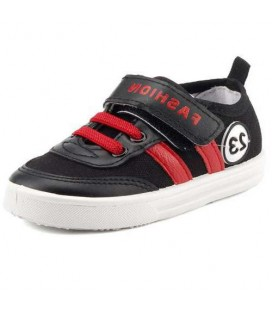 Gezer Siyah Günlük Cırtlı Erkek Çocuk Keten Spor Ayakkabı 2712