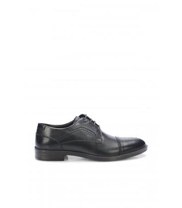 İnci Hakiki Deri Siyah Erkek Oxford Ayakkabı 6688 120130008667
