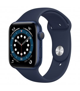 Apple Watch 6 44mm Mavi Alüminyum Kasa ve Spor Kordon