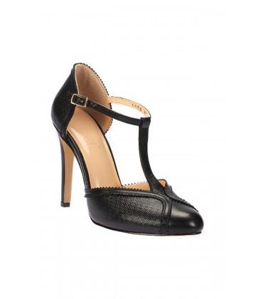 İnci Hakiki Deri Siyah Kadın Topuklu Ayakkabı 5999 120130006528