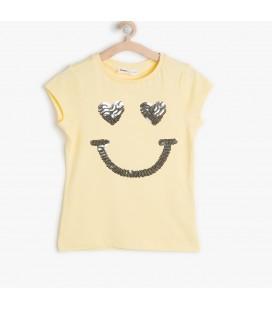 Koton Kız Çocuk Payetli T-Shirt
