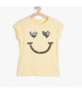 Koton Kız Çocuk Payetli T-Shirt 6YKG19570OK170