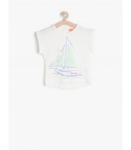 Koton Desenli T-Shirt 6YMG17739OK002