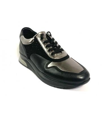 İnci Hakiki Deri Siyah Kadın Ayakkabı 7691