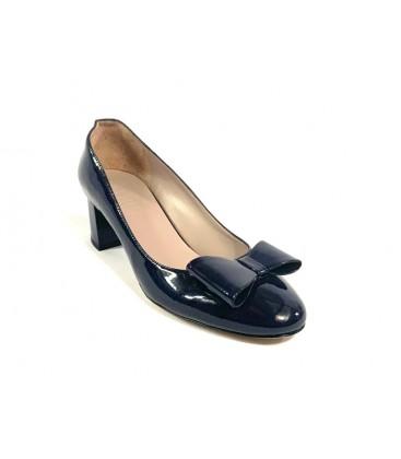 İnci Hakiki Deri Lacivert Kadın Topuklu Ayakkabı 7684