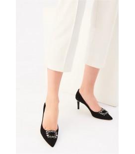 İnci Siyah Kadın Klasik Topuklu Ayakkabı 6716 120130008701