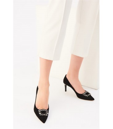 İnci Siyah Kadın Klasik Topuklu Ayakkabı 6719 120130008701