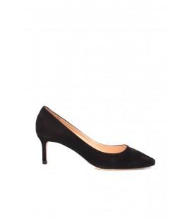 İnci Hakiki Deri Süet Siyah Kadın Klasik Topuklu Ayakkabı 7049 120130009077