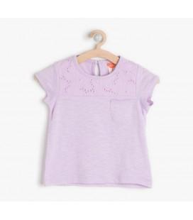 Koton Kız Bebek Dantel Detaylı T-Shirt 6YMG19562OK311