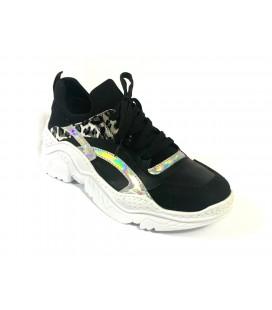 İnci Siyah Kadın Sneaker 7668