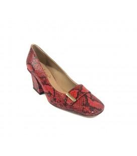 İnci Kırmızı Kadın Klasik Topuklu Ayakkabı 7084