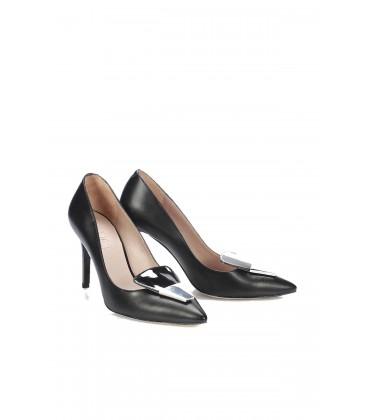 İnci Siyah Kadın Klasik Topuklu Ayakkabı 6718 120130008704
